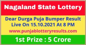 Nagaland Durga Puja Bumper Winner List 2021